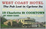 west coast hotel cooktown