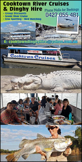 cooktown river cruises and dinghy hire