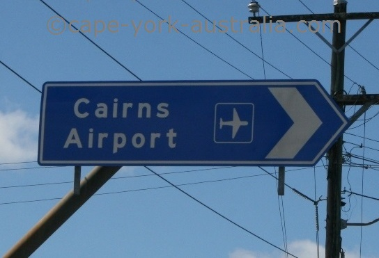 cairns airport sign