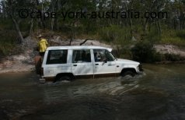 jackaroo in creek crossing