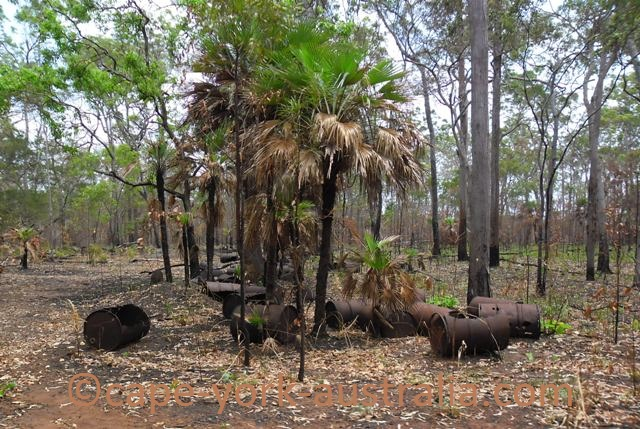 bamaga wwii fuel drums