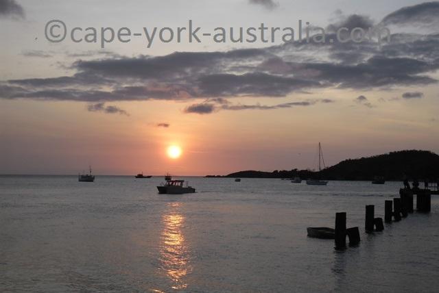seisia wharf sunset