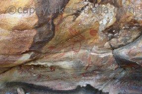 somerset beach aboriginal rock painting