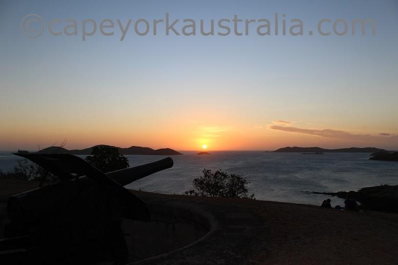 thursday island green hill sunset