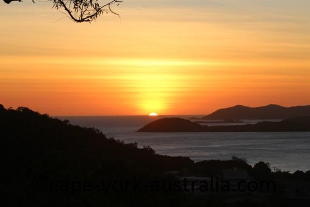 thursday island milman hill sunset