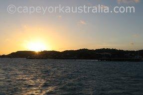 thursday island wharf sunset