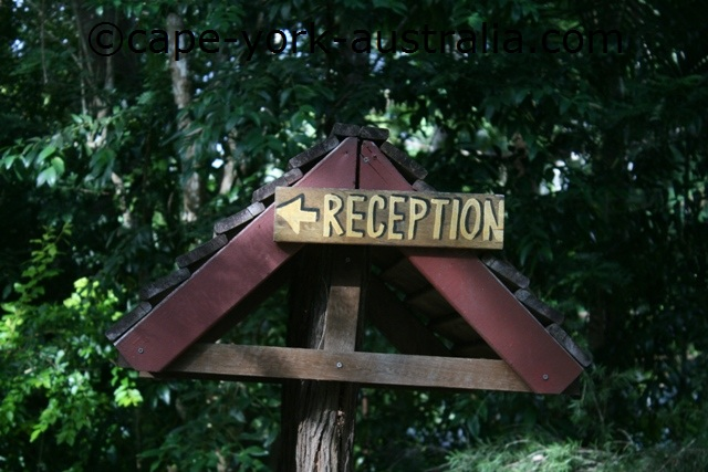 cedar park rainforest resort reception sign
