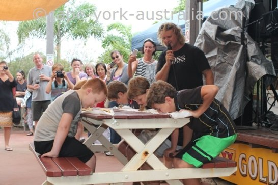 cooktown festival pie eating competition