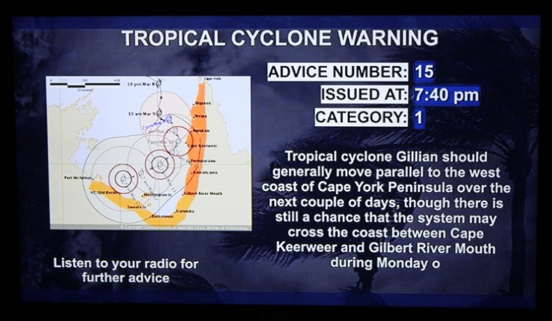 cyclone gillian warning