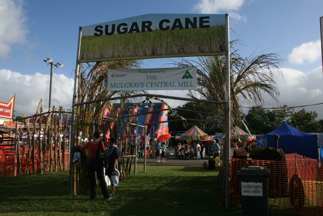 cairns show sugar cane display