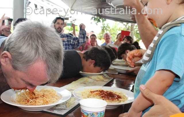 cooktown festival pasta eating competition
