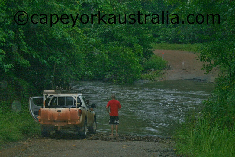 flooded creek crossing