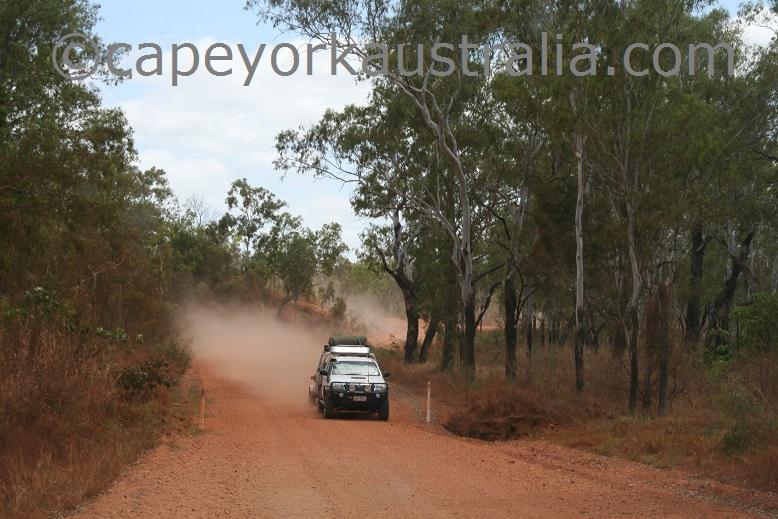 speeding on dirt roads