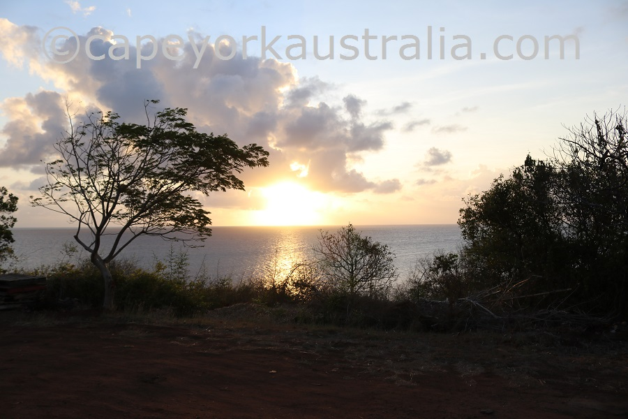 darnley island sunset
