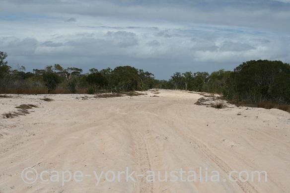 running creek track boggy sands