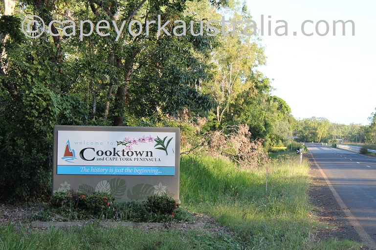 cooktown sign
