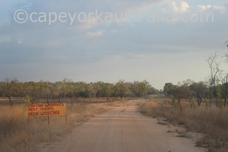pormpuraaw to kowanyama road sign