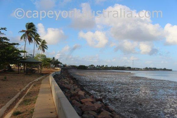 saibai island waterfront low tide