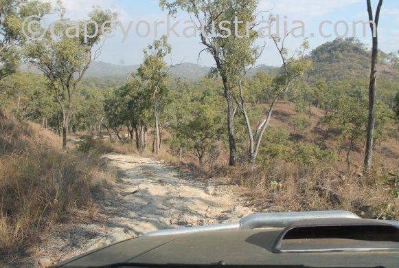 old coach road creek crossing mountain range