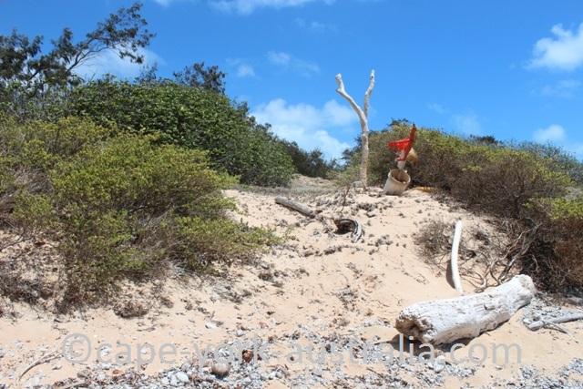 albany island beach marker