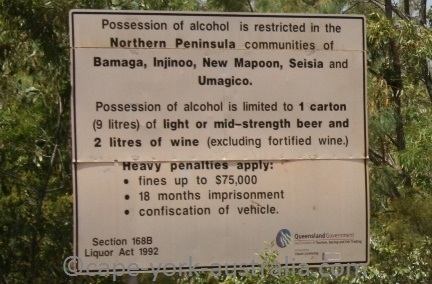 alcohol restrictions