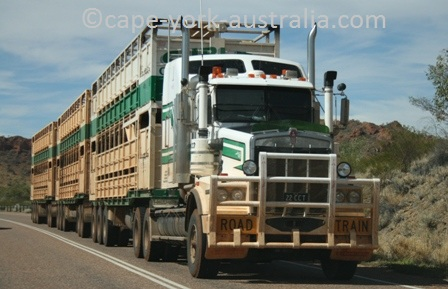 australian road trains outback