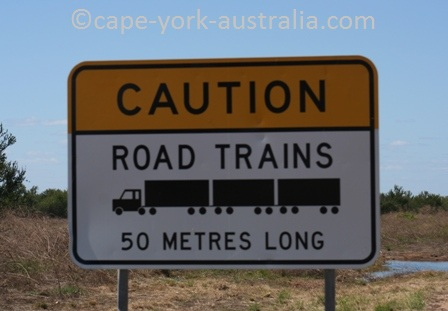 australian road trains sign