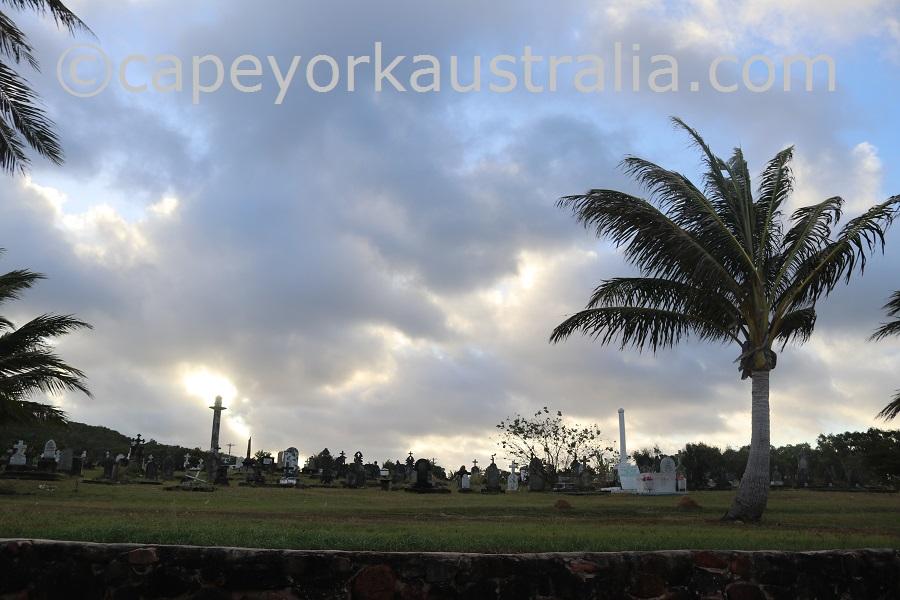 badu community beach walk cemetery