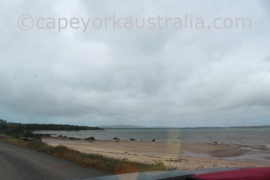 badu island airstrip beach