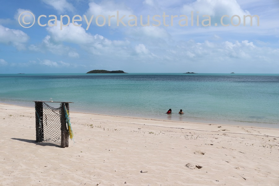badu island argun beach swimming