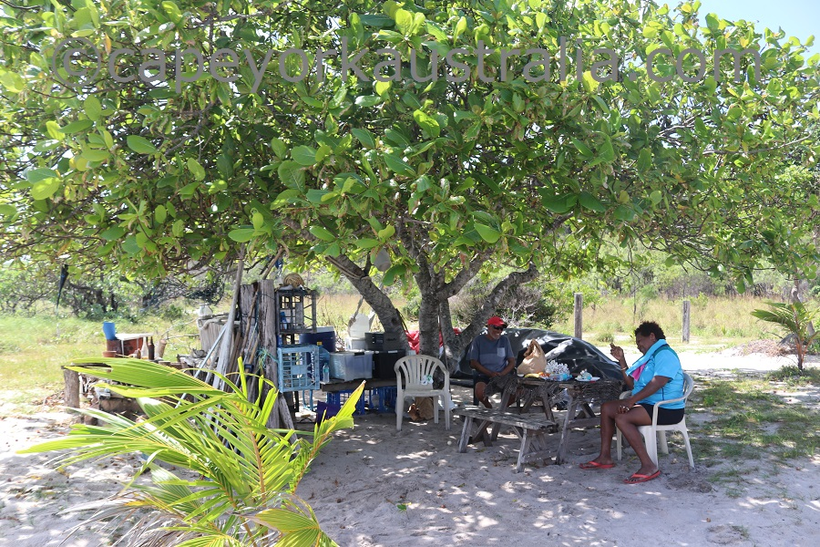 badu island argun camp lunch