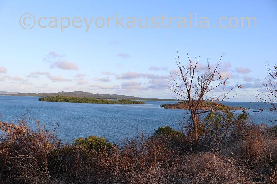 badu island lookout views
