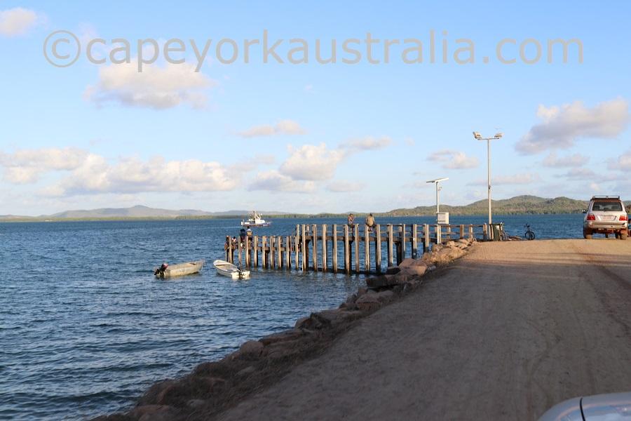 badu island pier