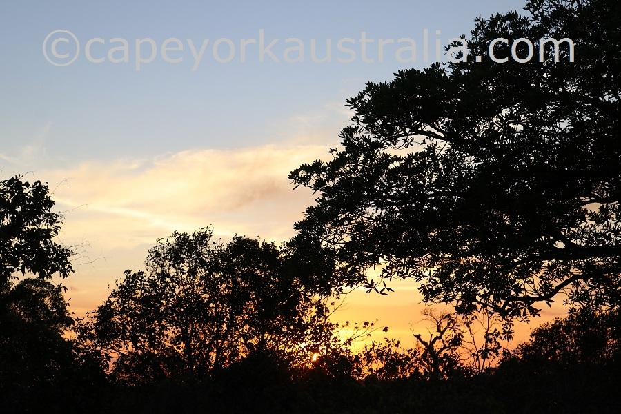 badu island sunsets
