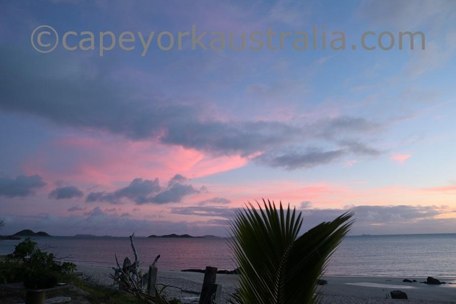 badu island west coast sunset