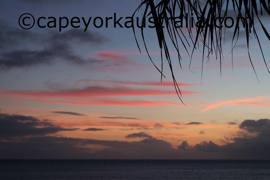badu island west sunset