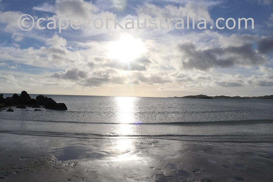 badu island western sunset