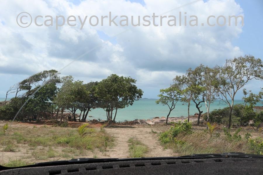 badu island yaza beach camp