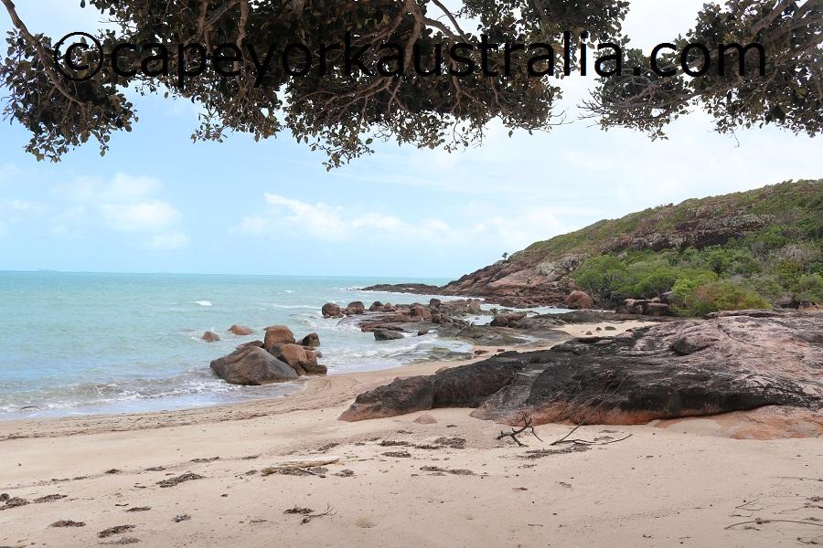 badu island yaza beach views