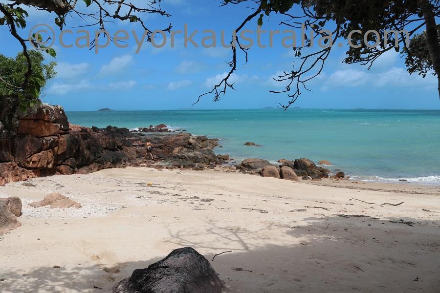 badu island yaza beach walk