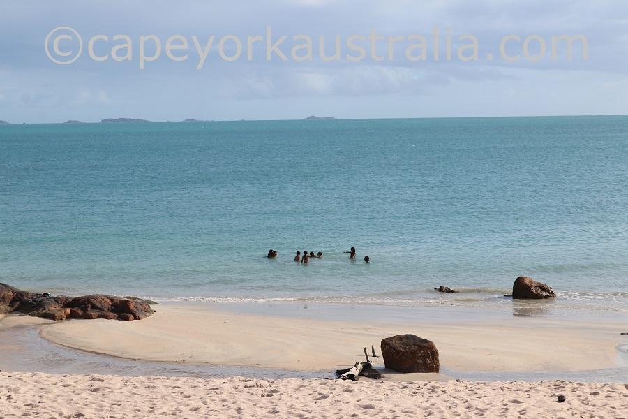 badu beach swimming