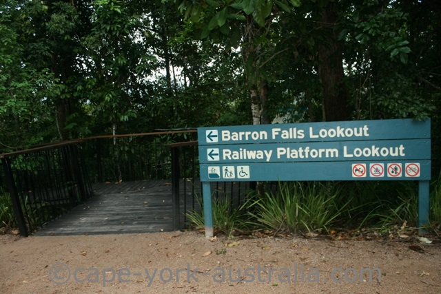 barron falls sign