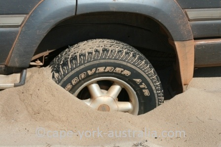 bogged in sand