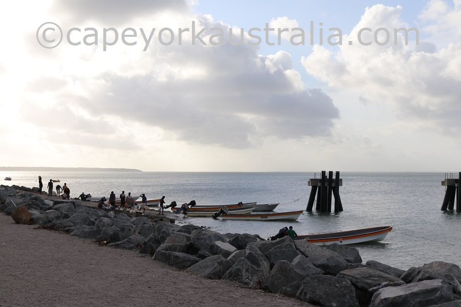 boigu island boat ramp