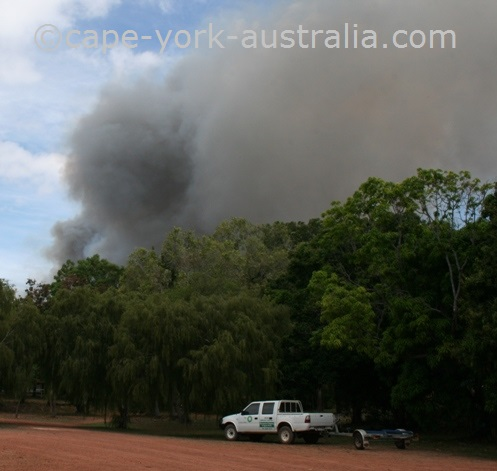 bushfire weipa