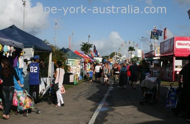 cairns show food stalls