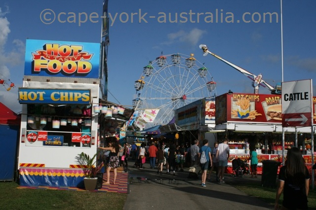 cairns show food stalls