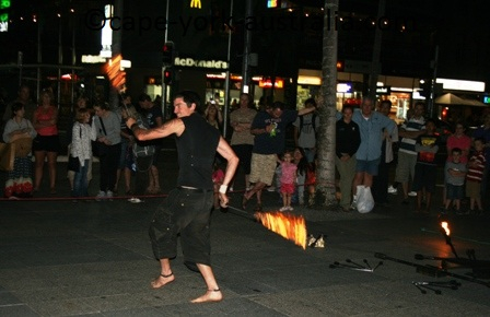 cairns street entertainment