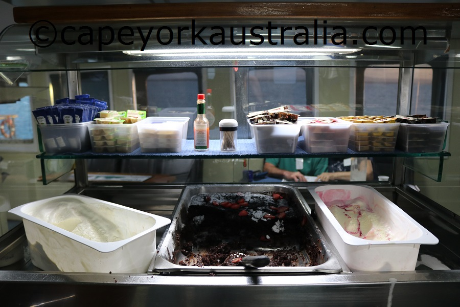 cape york cargo cruise dessert