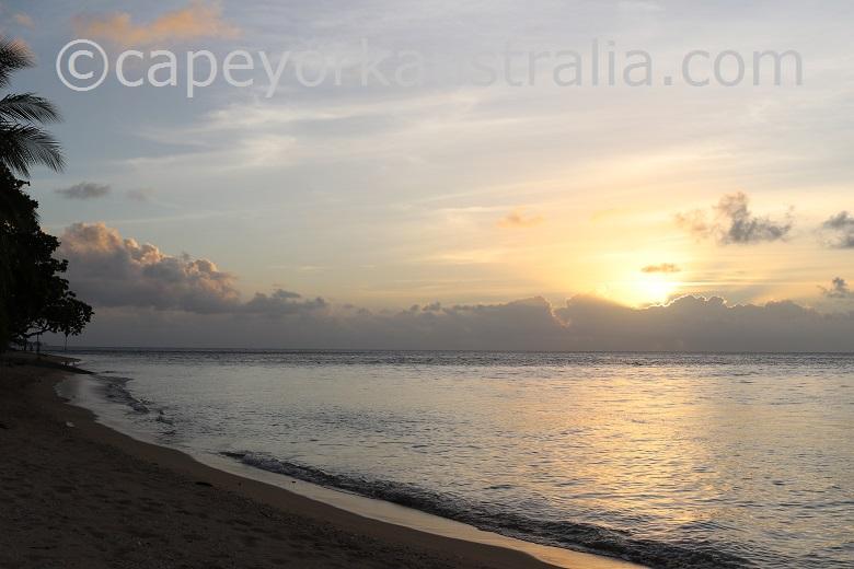 murray island sunset
